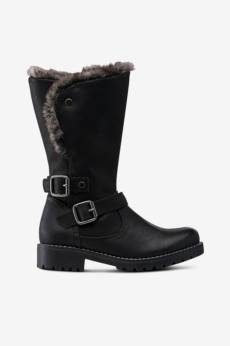 Ellos Shoes Boots Washington Fur Varmfodrad Svart