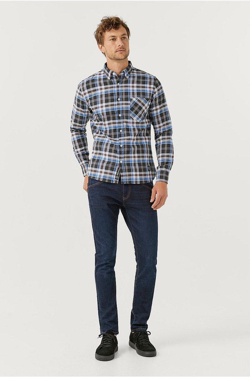 Oxfordskjorte med button down-krave
