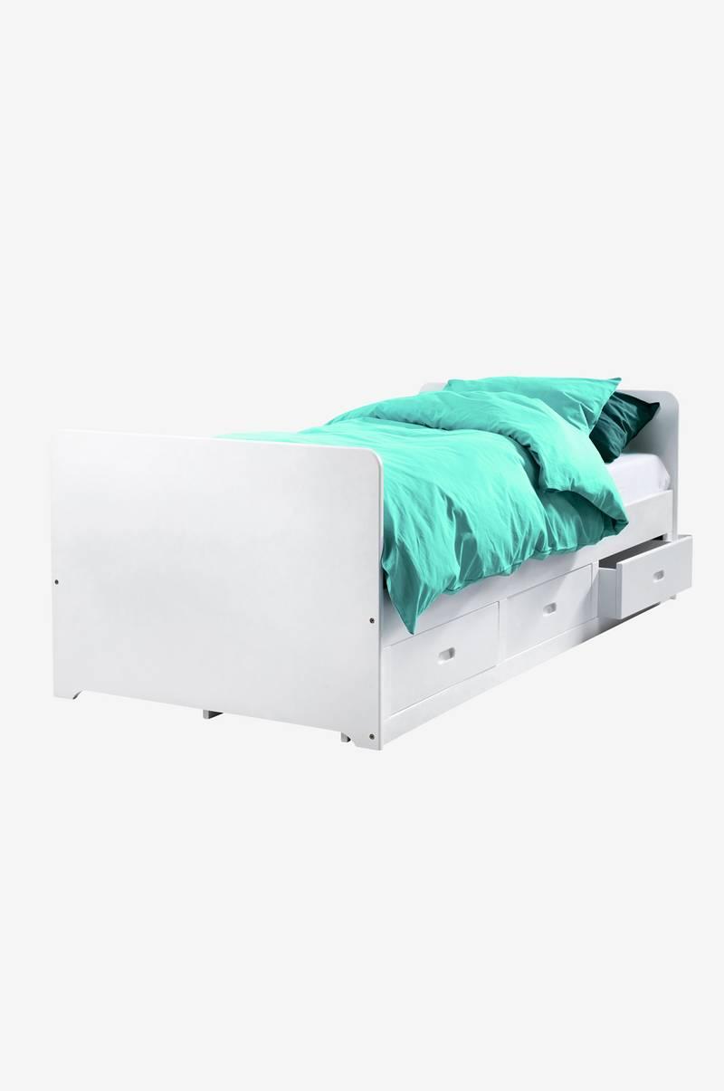 Nya Ellos Home Säng med förvaring 90x200 - Vit - Hem & inredning LB-01