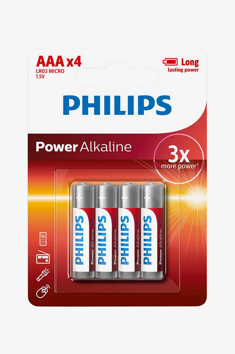 Power Alkaline AAA LR03 4-pac