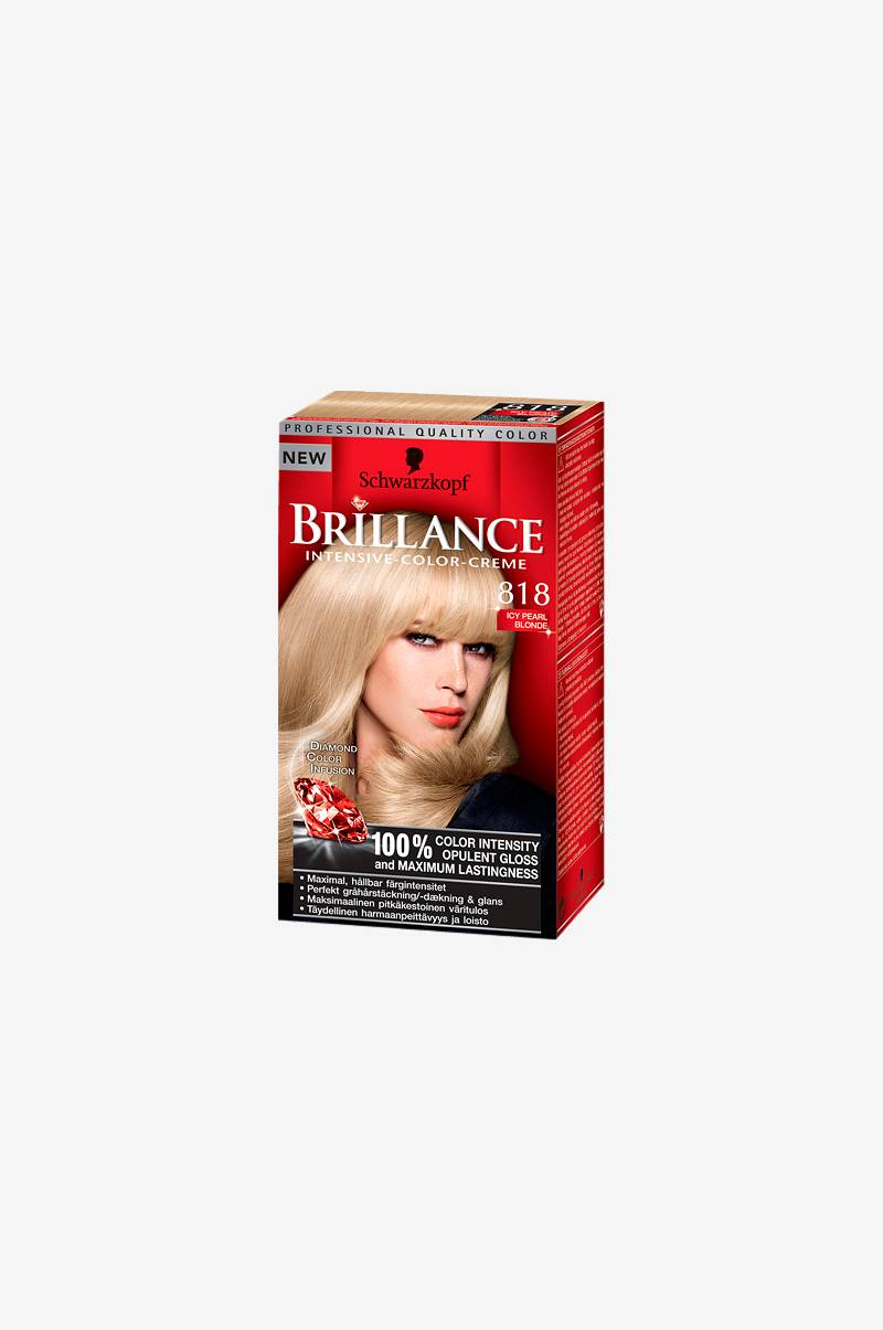 Schwarzkopf Brilliance 818 Icy Pearl Blonde - Gul