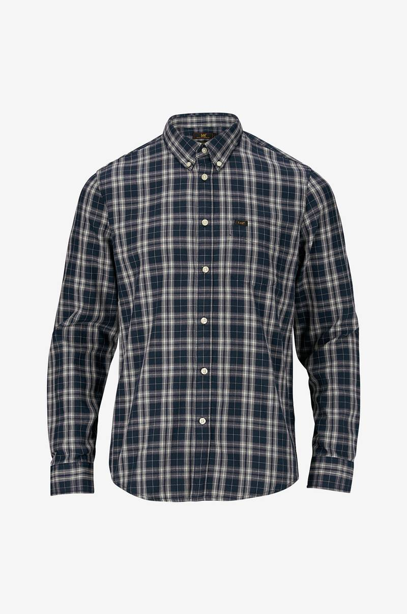 Skjorte Button Down Navy Drop