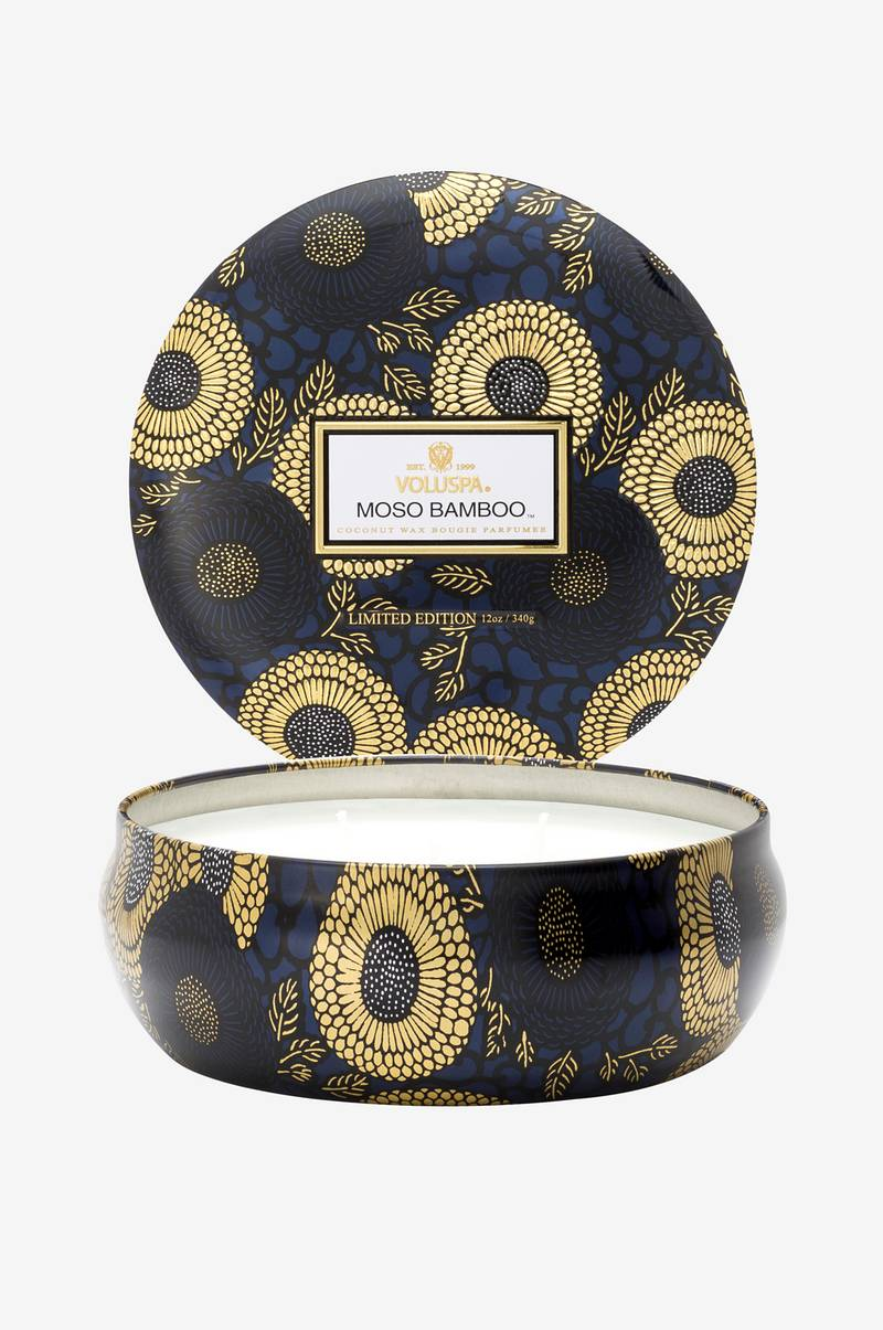 Moso Bamboo - 3 Wick Candle in Decorative Tin 40h