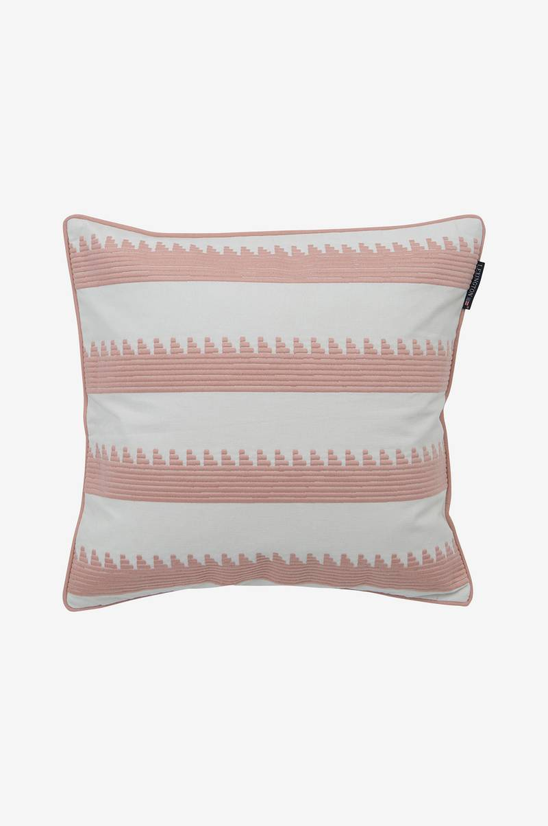 Putetrekk Embroidery Striped Sham