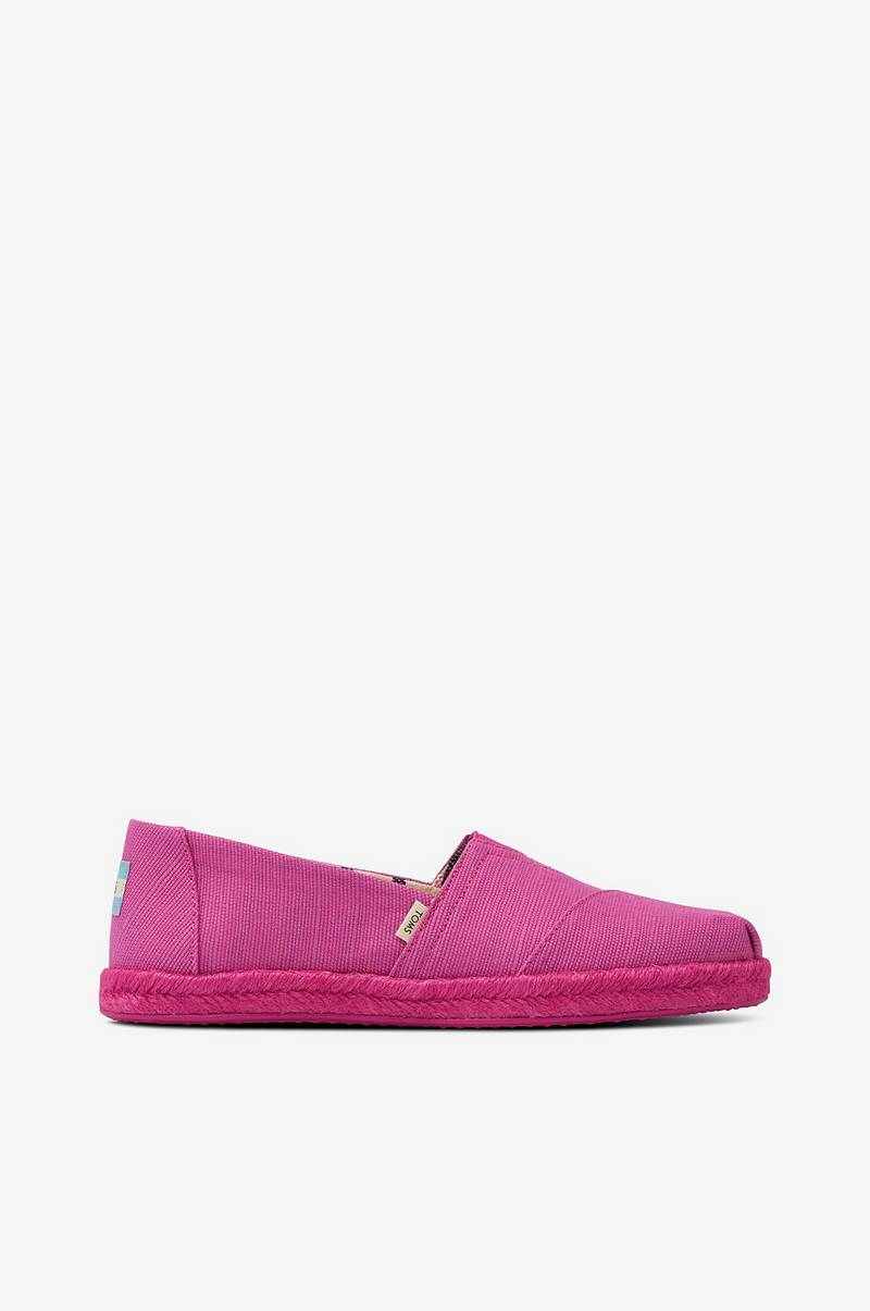 Espadrillos Rose Violet Canvas On Rope