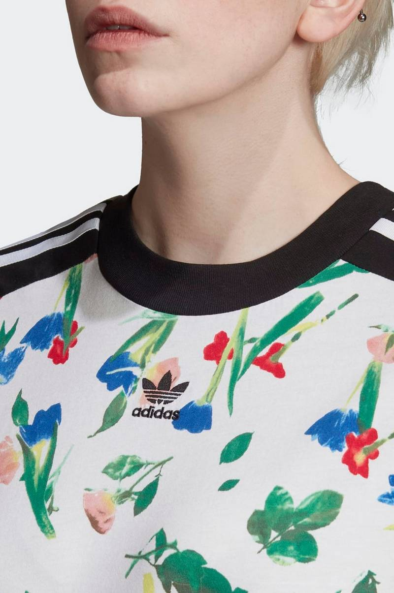 Top Cropped Allover Print Tee