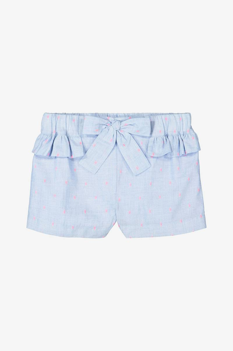 Prickiga shorts med volang