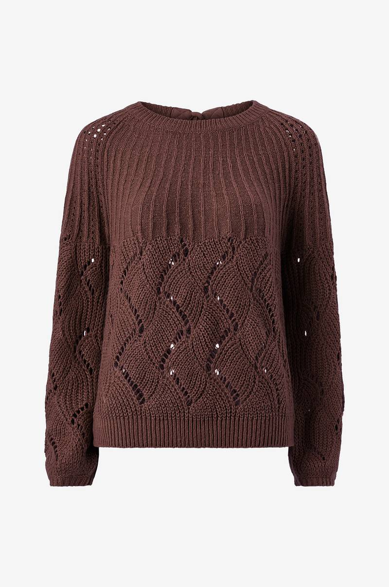 Neulepusero viSatira Knit New O-neck Top