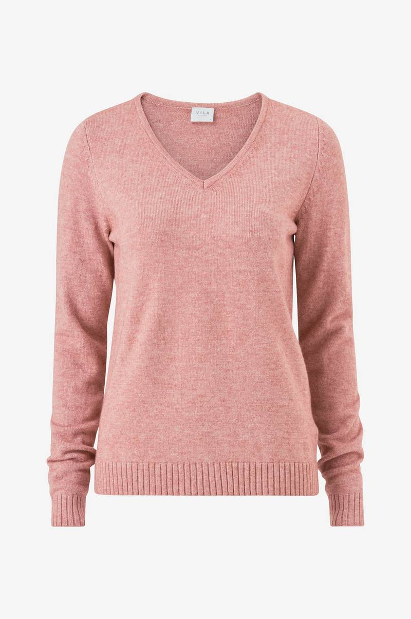 Genser viRil L/S V-neck Knit Top-Fav