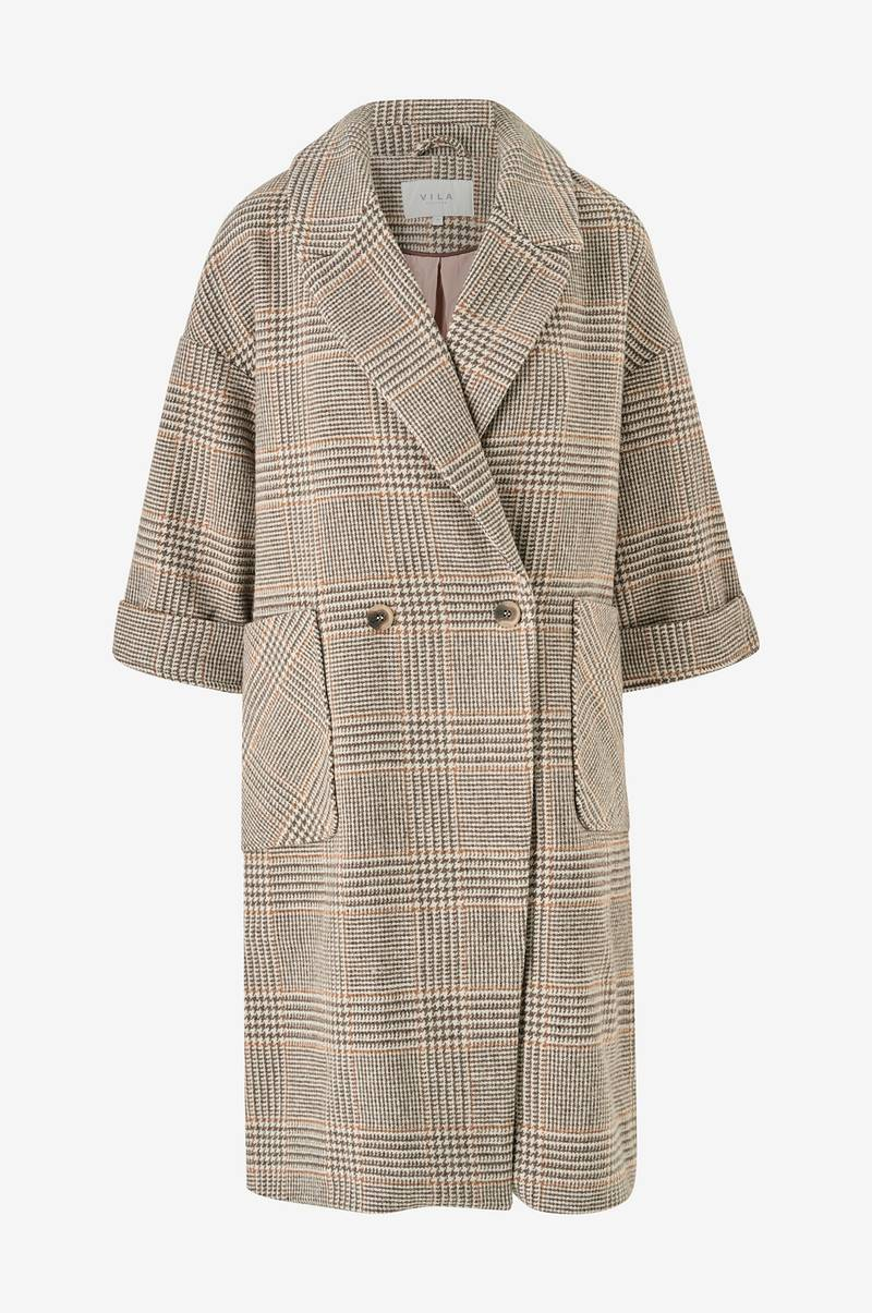 Kåpe viAmoro Wool 7/8 Sleeve Coat