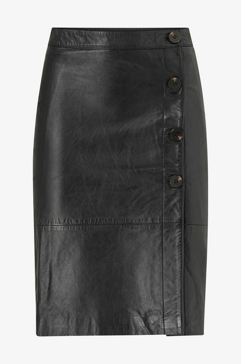 Skinnkjol viElfi HW Leather Skirt