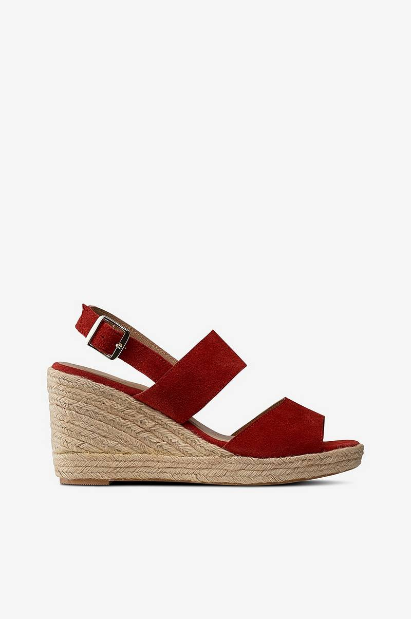 Sandalett Wedge Suede