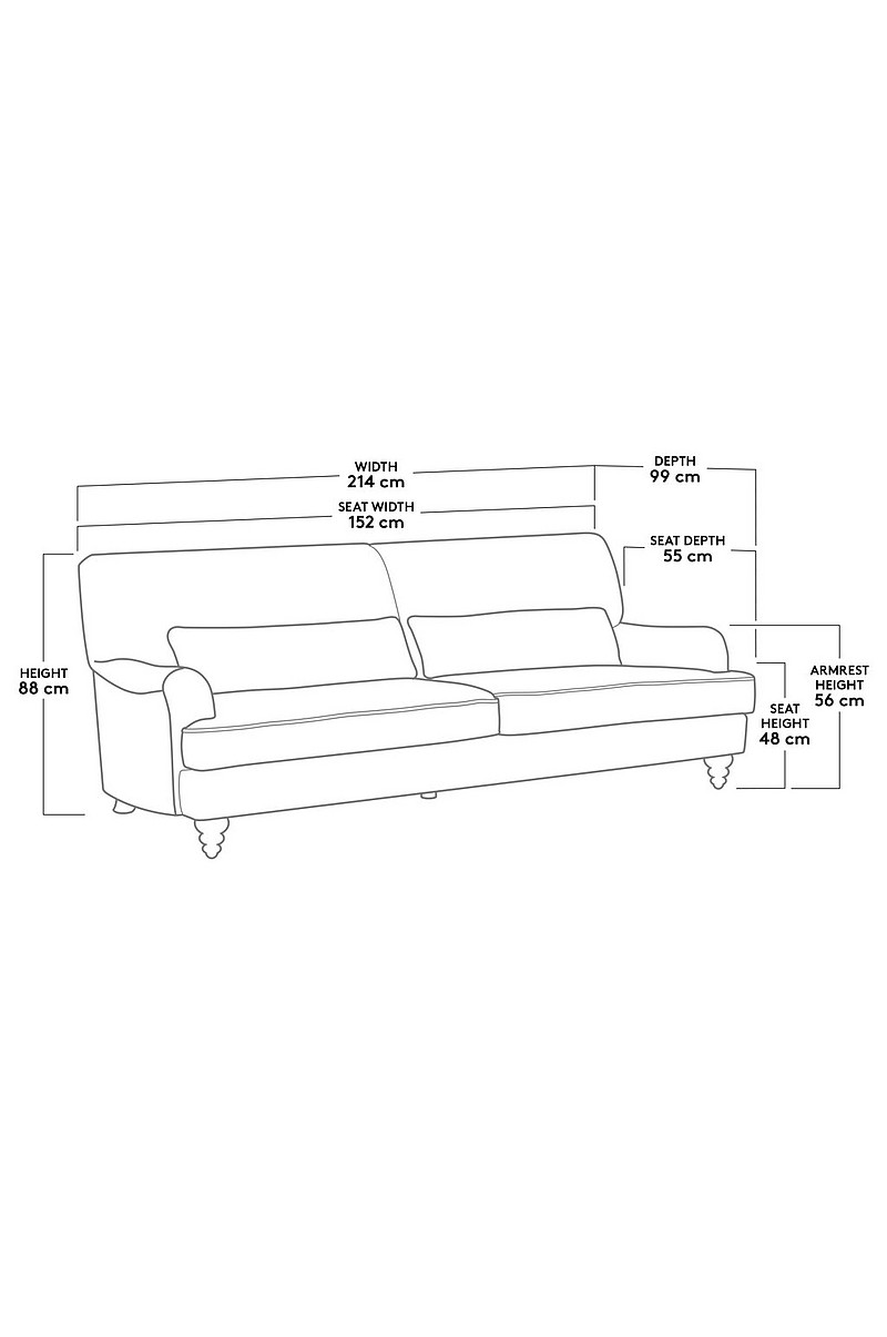 RIVERDALE sofa - 3 pers