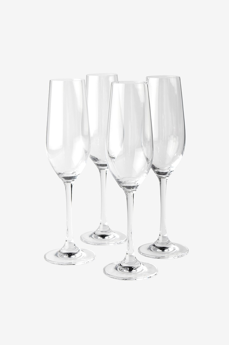 BLANCHE champagneglas 4-pack