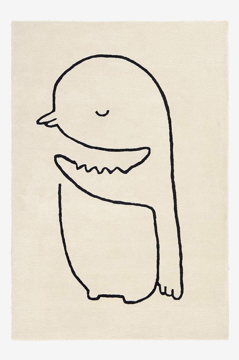 SKETCHY PENGUIN luggteppe 130x190 cm