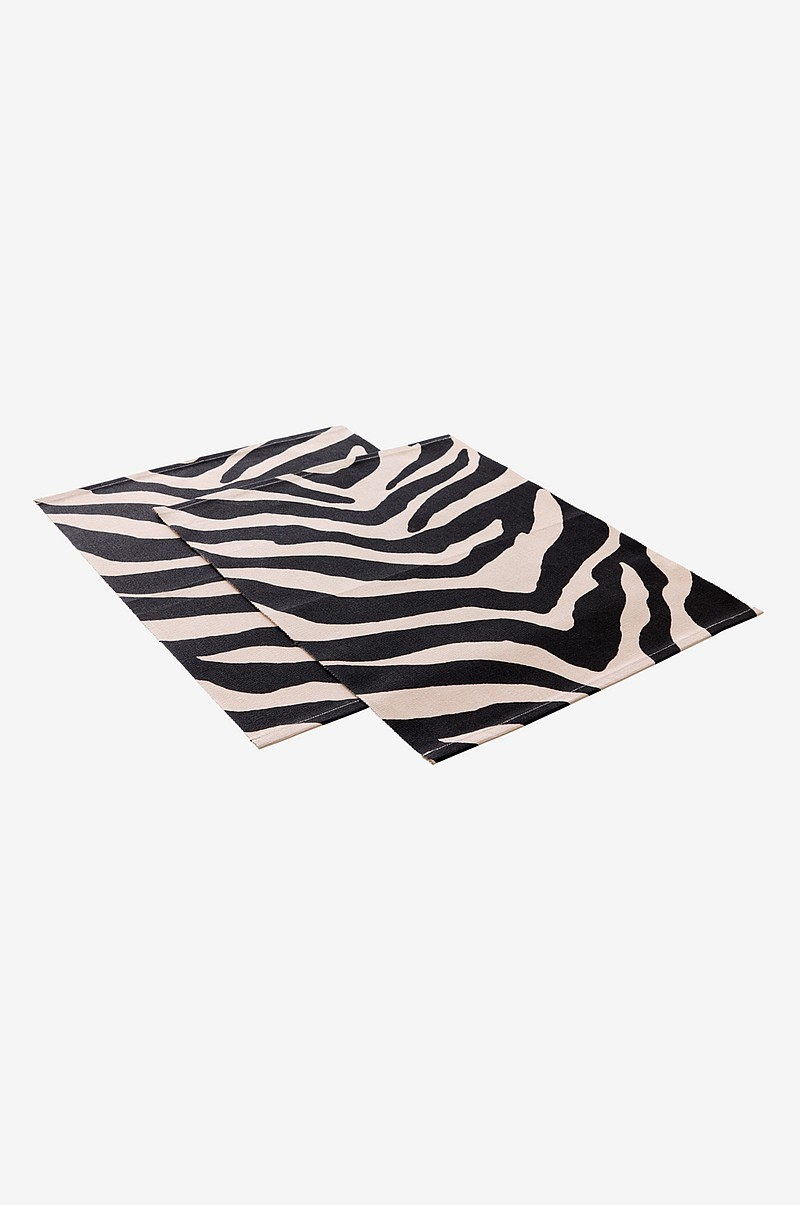 ANIMALS ZEBRA bordstablett 2-pack