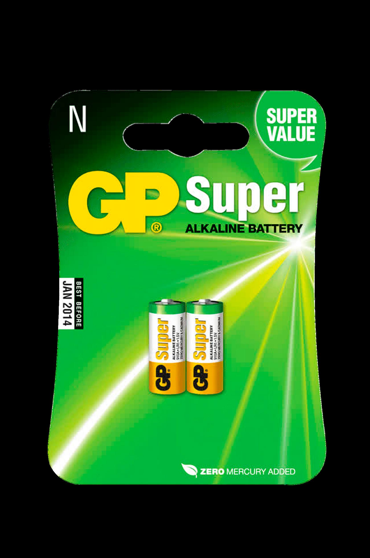 Super Alkaline -paristot (LR1, 2/pakk.)