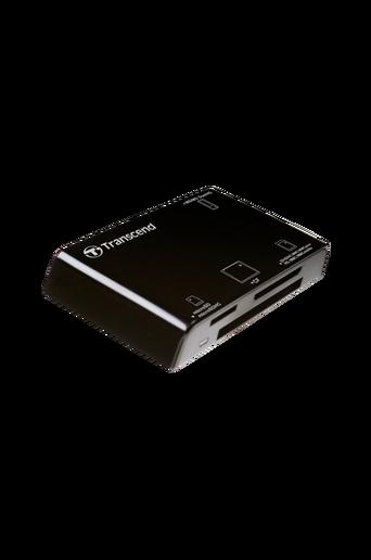 USB 2.0 -liitäntäinen kortinlukija. Musta