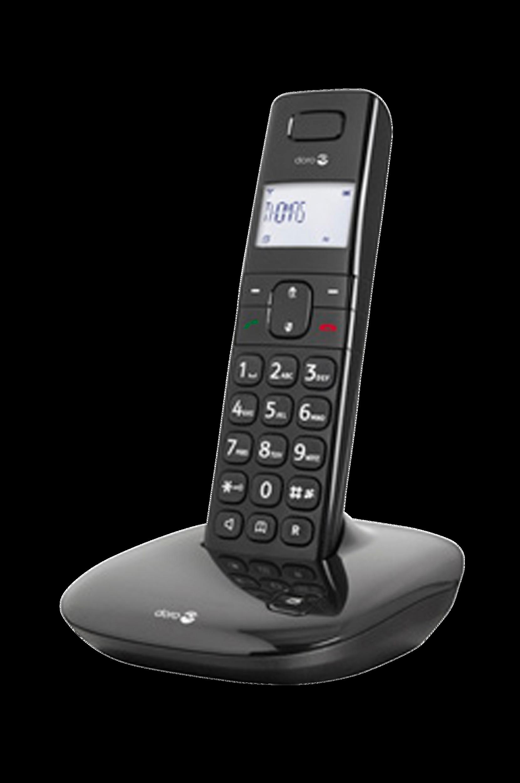 Comfort 1010 -puhelin, musta