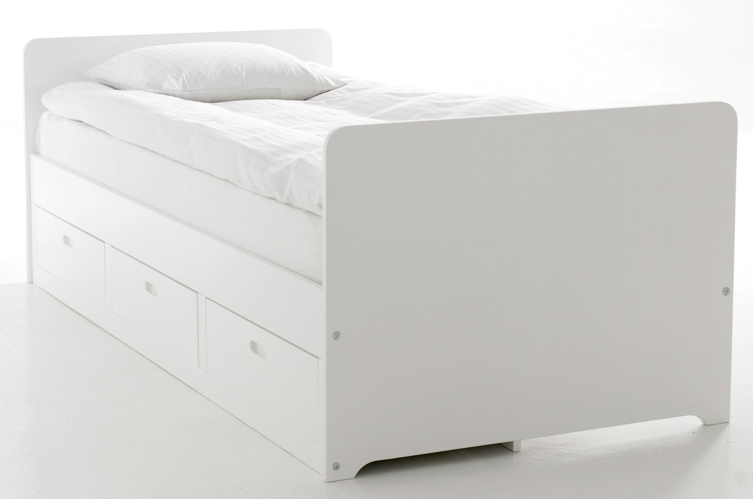 Kanon Ellos Home Säng med förvaring 90x200 - Vit - Hem & inredning EQ-04
