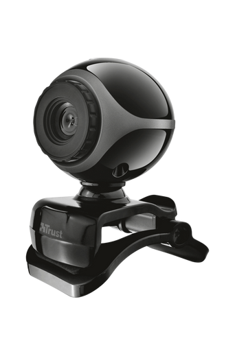 Exis -webkamera - musta/hopea