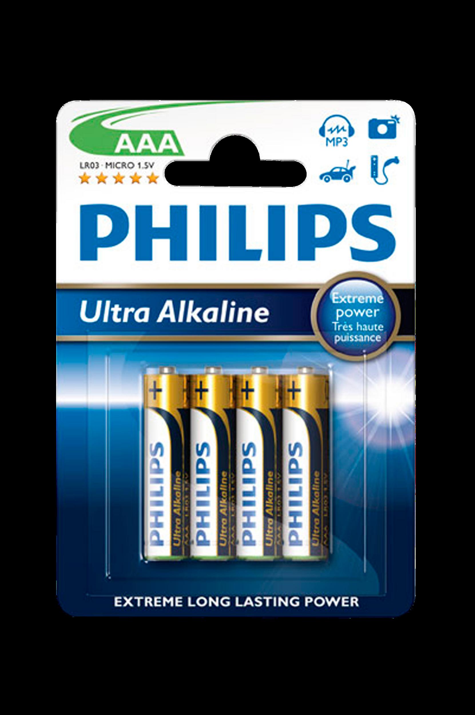 Ultra Alkaline AAA 4-pak Philips  til Boligen i Ultra alkaline aaa 4-pak