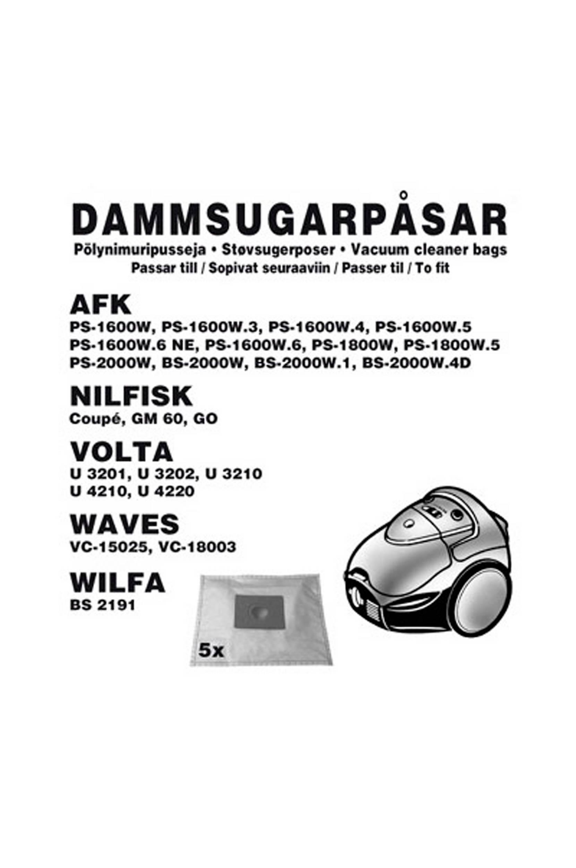 AFK -pölypussit, 5 kpl (1631CH)