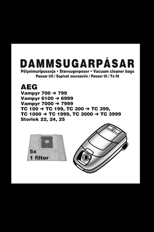 AEG -pölypussit 5/pakk. 1 suodatin (1004CH)