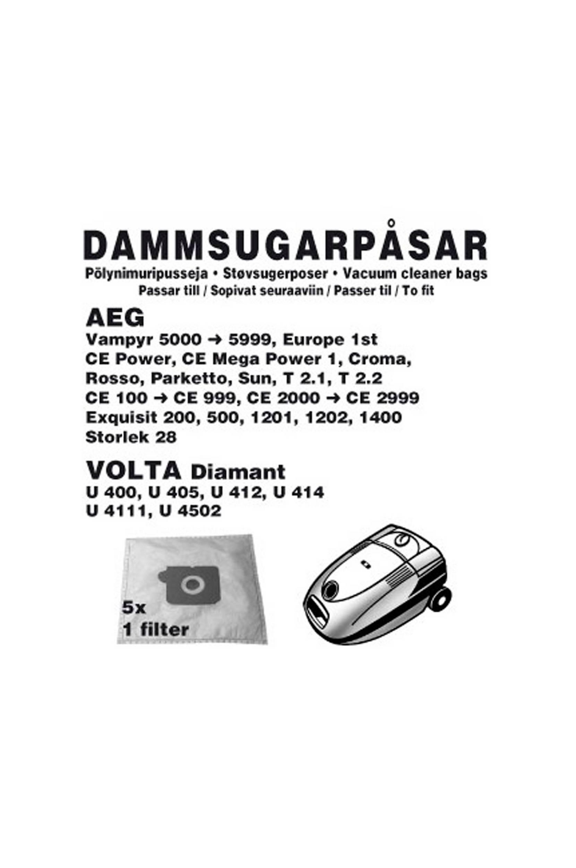 AEG-pölypussit, 5/pakk. 1 suodatin (1006CH)