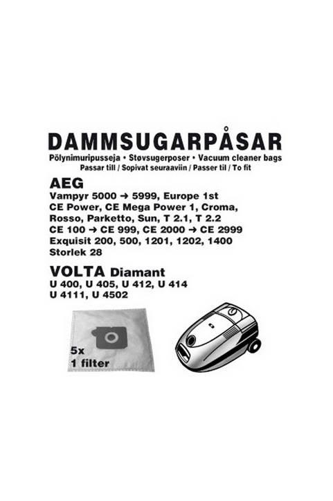 Dammpåsar AEG 5st 1st filter (1006CH)