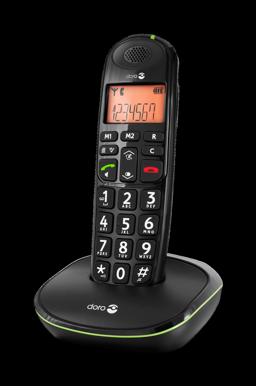 Phoneeasy, langaton puhelin (100W) Musta