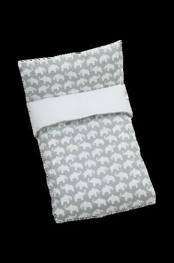 Elefant -pussilakanasetti sänkyyn, harmaa