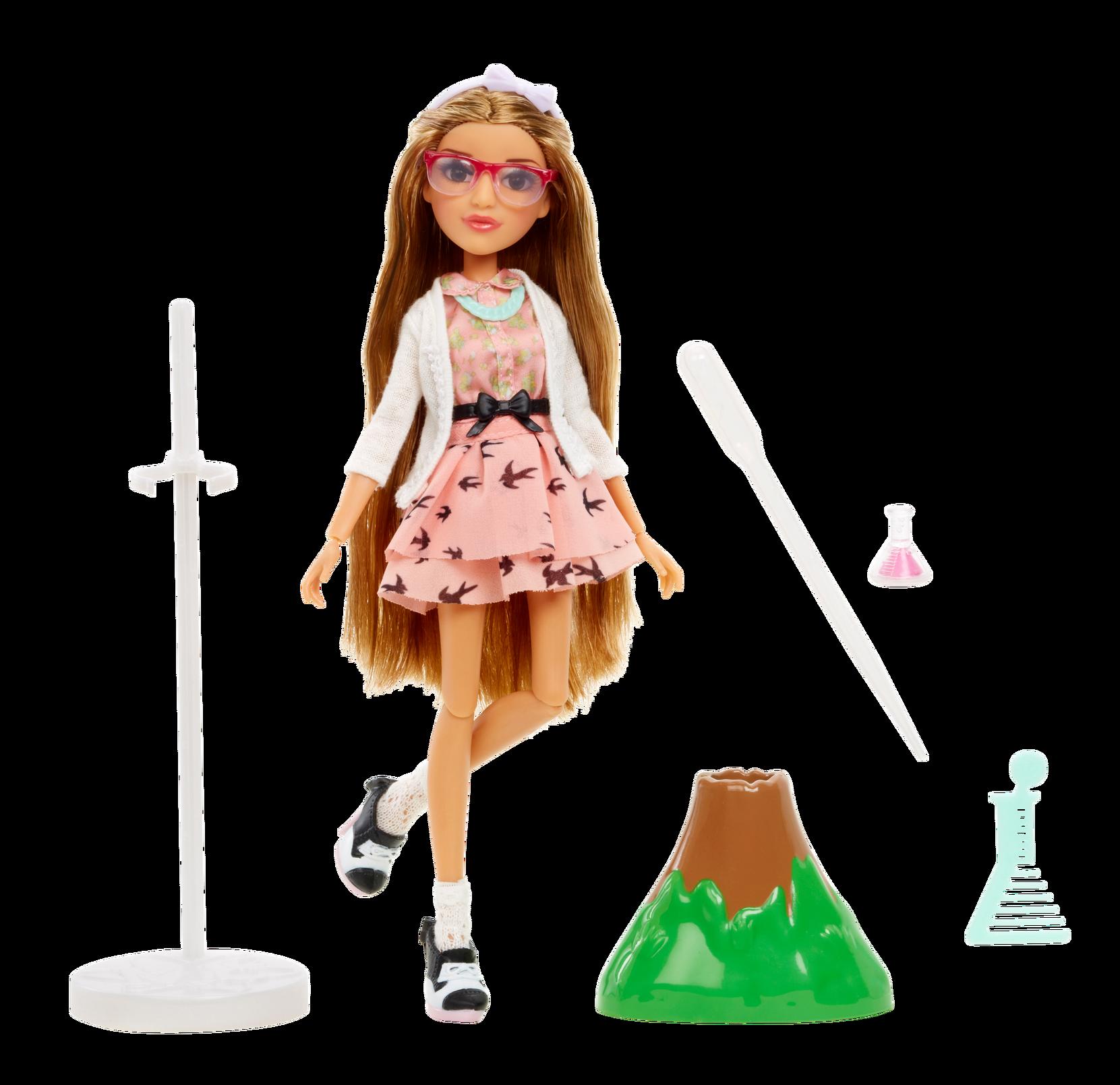 Adrienne-nukke ja tulivuori 28 cm