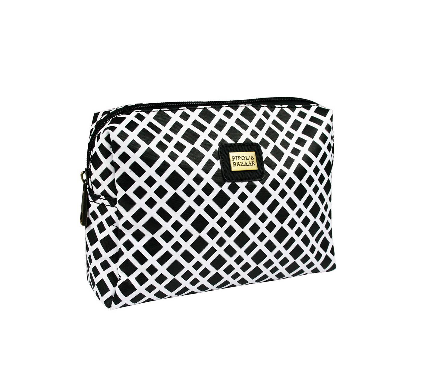 Crocetta Small Cosmetic bag black & white