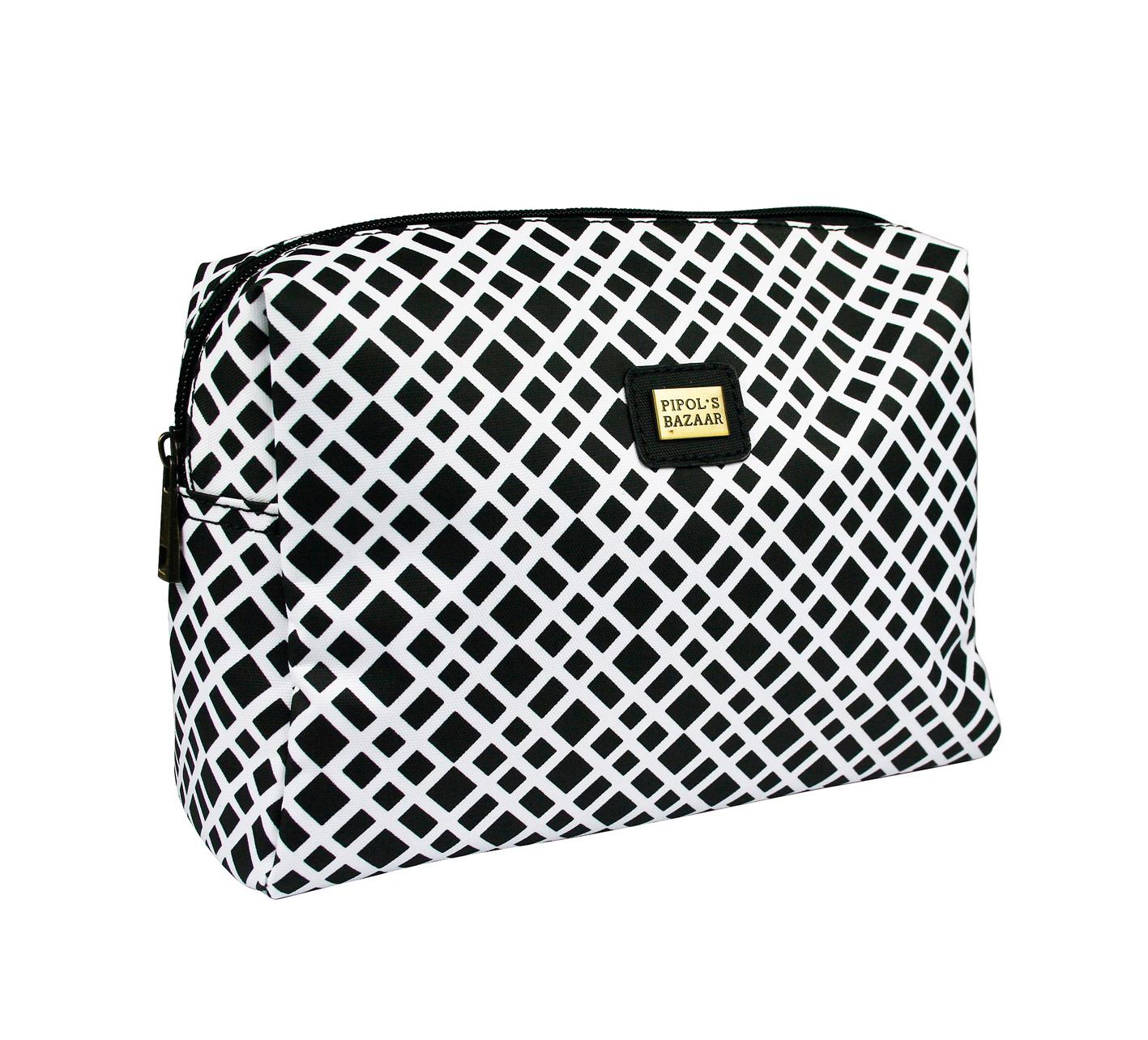 Crocetta Big Cosmetic bag black & white