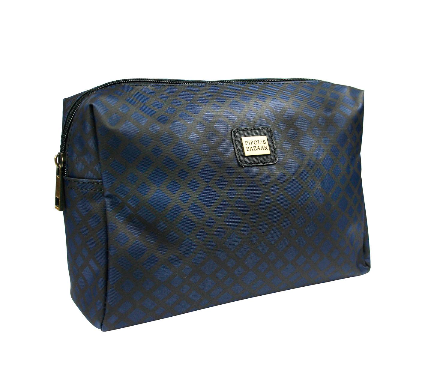 Crocetta Big Cosmetic Bag Dark Blue
