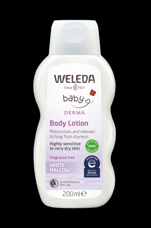 White Mallow Body Lotion – 200 ml Weleda Pusle & pleje til Børn i