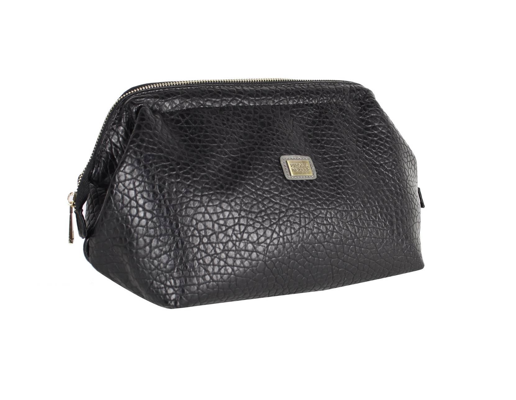 Frame Cosmetic Bag Big Black