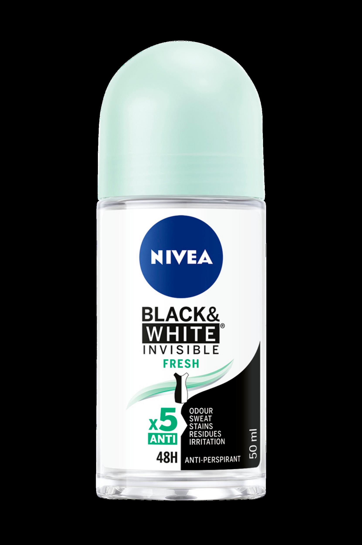 Invisible Black&White Fresh Roll On 50 ml Nivea Deodoranter til Kvinder i
