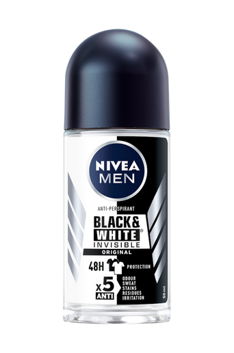 Invisible Balck&White Roll On, 50 ml