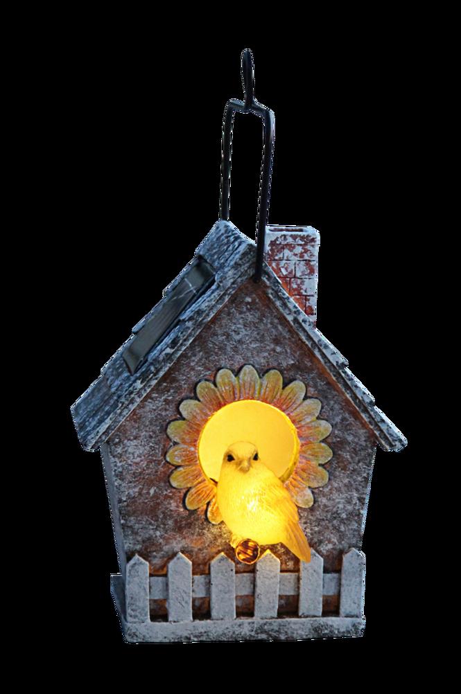 Solcell fågelholk