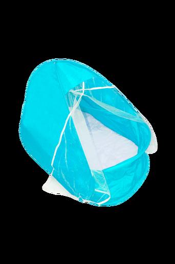 UV-teltta, jossa patja ja hyönteisverkko