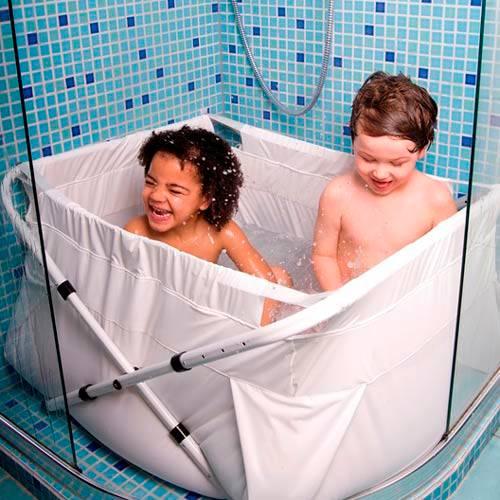 Bibabad Flexi -kylpyamme 80–100 cm valkoinen