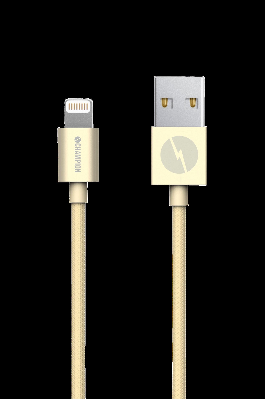 Lightning kabel 1 m Gold Champion electronics Mobiltilbehør til Boligen i