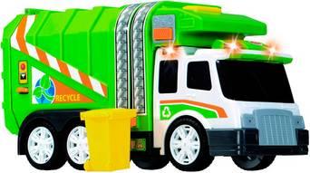 Paristokäyttöinen roska-auto, jossa valot ja äänet