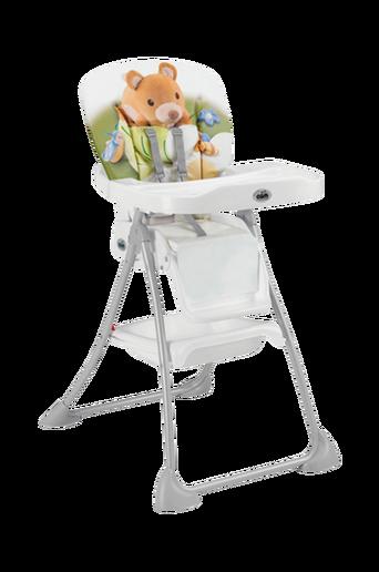 Syöttätuoli, valkoinen pehmuste + nalle