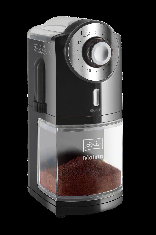 Molino-kahvimylly, musta