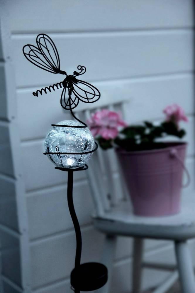 Solcellslampa Fjäril