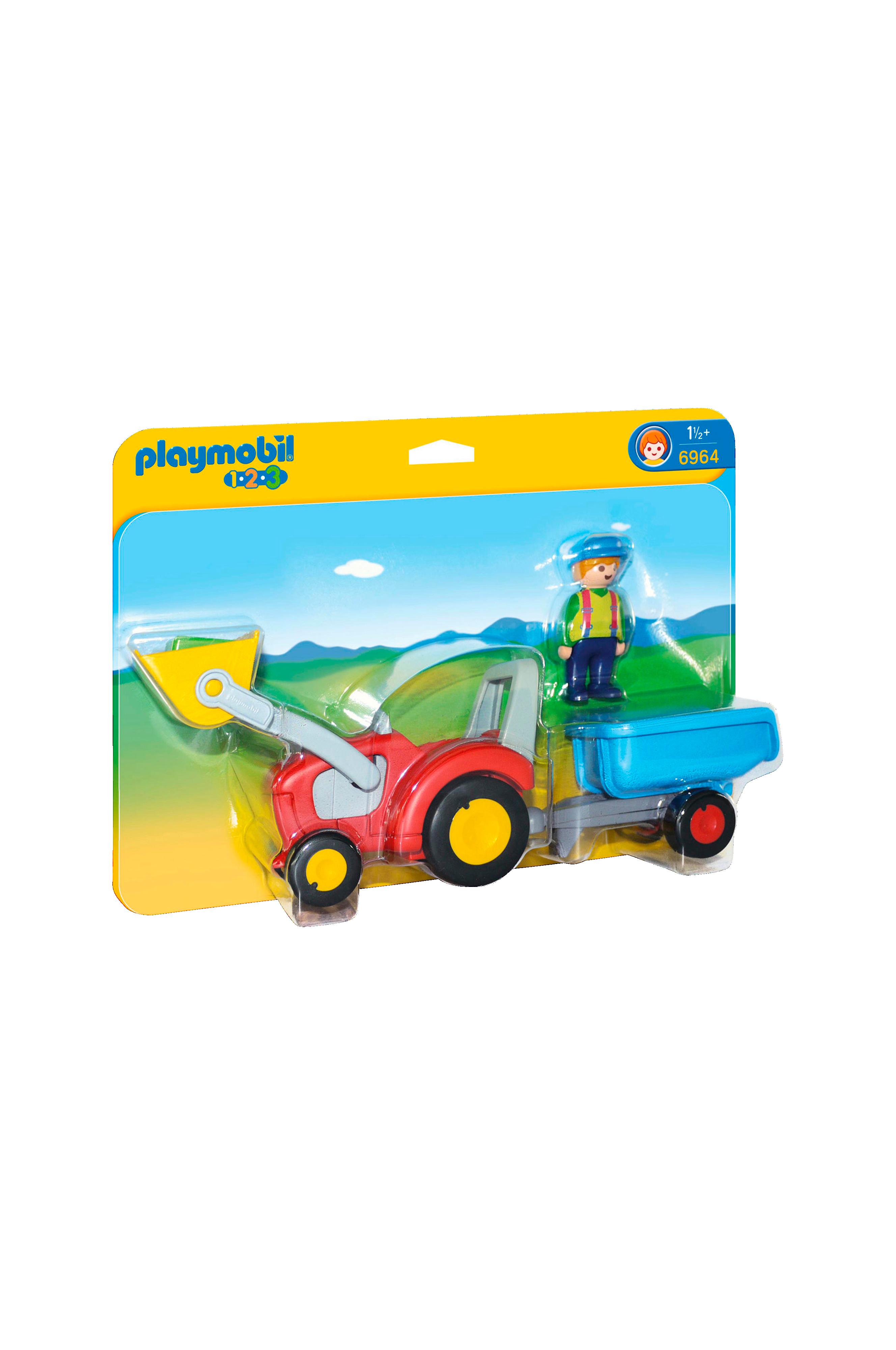 playmobil 1 2 3 1 2 3 traktor med sl p barn. Black Bedroom Furniture Sets. Home Design Ideas