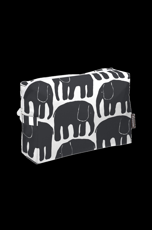 Elefantti-toilettilaukku, musta
